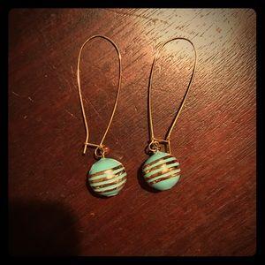 Lauren G Adams Dangle Earrings in Turquoise.